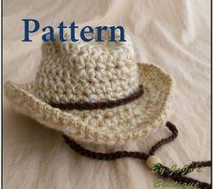 Free Crochet Cowboy Hat Pattern For Adults : Crochet - Baby and Kids Hats 2 ! on Pinterest Crochet ...