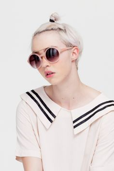 Vintage Style Round Sunglasses Pink