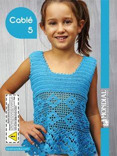 Cable 5 Picot-Edge Tank | Knitting Fever Yarns  Euro Yarns