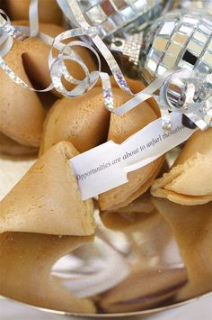 Fortune cookies at a New Year's Party