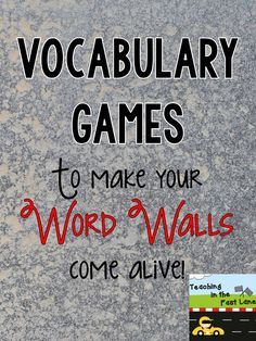 Vocabulary games tha