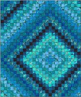 free pattern, color, quilt patterns, fabric freedom, quilt inspir, denim quilts, deep blue, atlantis, blues