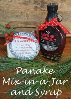 a-Pancake Mix in a Jar and Syrup Christmas Gift 026