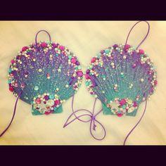 EDC Custom Mermaid Shell Bra by PrettyGirlDancewear on Etsy, $70.00
