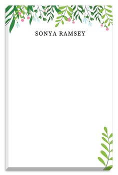 Greenery Notepads