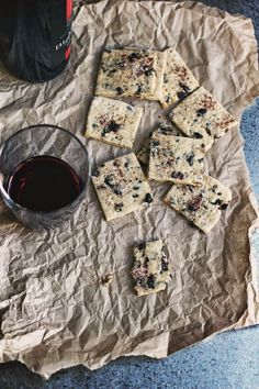 Salty Blueberry Crispbreads