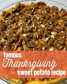 sweet potato recipe, Thanksgiving sweet potato recipe