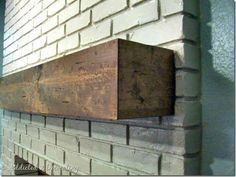 rough hewn wood mantel