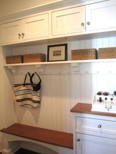 Storage idea for utility room