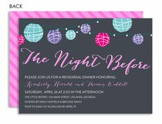 The Night Before Rehearsal Dinner Invitation  by Noteworthy Collections