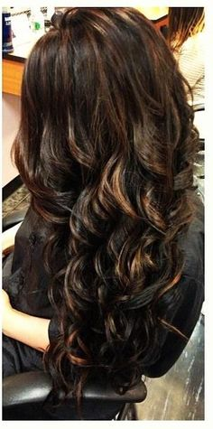 Layered with Brown Highlights - Hairstyles and Beauty Tips