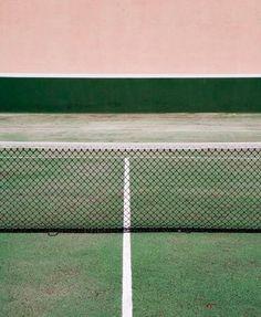 pink & green tennis court.