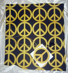 Peace  / Reusable / Fabric Tie Gift Bag /  Large / Any Occasion / With Gift Tag by olebaglady for $2.00 #zibbet
