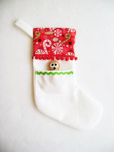 Felt Holiday Stocking  Pocket Peeper Gingerbread by RedMarionette, $36.00