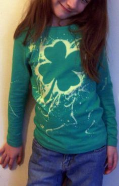Freezer Paper and Bleach T-Shirt Tutorial.  This would be an awesome project for local 4-H Day Camps, etc.