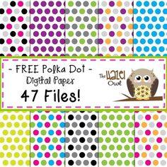 FREE Polka Dot Digital Papers!