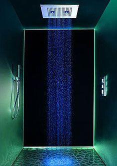 fan of the overhead shower