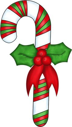 CHRISTMAS CANDY CANE, CLIP ART