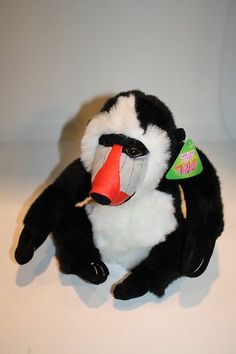 """NEW 10"""" Sugar Loaf Plush Monkey Mandrill Baboon Red Nose NWT Stuffed Animal Toy"""
