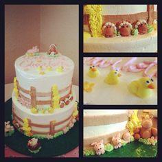 Charlotte's web baby shower cake