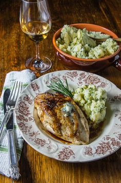 Recipe: Bobby Flay's Chicken With Roquefort    Photo: Eva L. Baughman for The New York Times