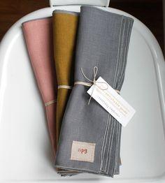 reclaimed linen napkins