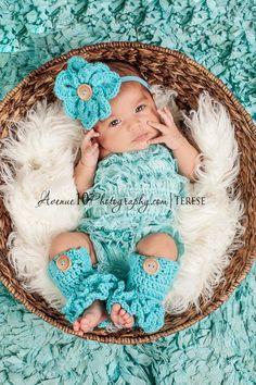 Baby girl leg warmers and headband on Etsy, $22.00