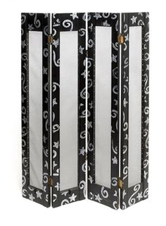 Hang all of your earrings on repurposed window shutters.