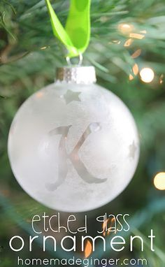 Happily Mother After: 12 Crafty Days of Christmas {Day 7}: Etched Glass Ornament
