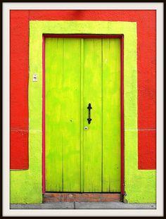 color, door, lime