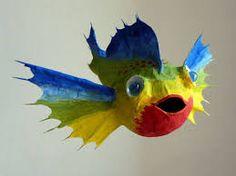 vbs, idea, craft, paper mache fish, paper mash, papers, paper fish, papier mach, mach fish