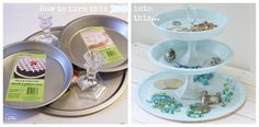 How to Turn Dollar Store finds into a Jewelry Tray at The Happy Housie