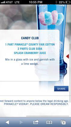 Cotton candy vodka