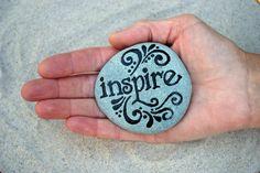 Painted Stone / Inspire  / Sandi Pike Foundas. $22.00, via Etsy.