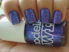 **** nail polish, nail arts, glitter nails, sparkle nails, purple nails, electric blue, party nails, sparkly nails, blue nails
