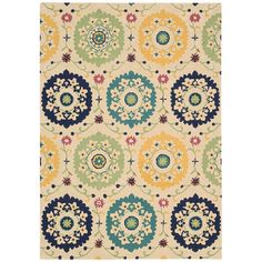 Stylishly anchor your living room seating group or master suite ensemble with this artfully hand-tufted wool rug, showcasing an exotic suzani medallion motif...