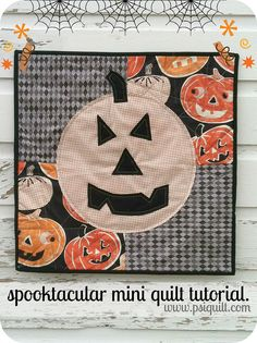 spooktacular mini quilt tutorial. Peace, Robert from nancysfabrics.com