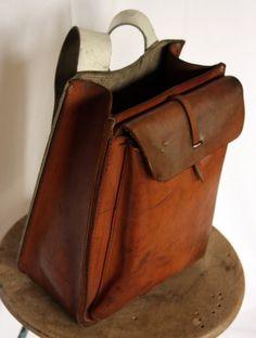 vintage french artisan backpack  #leatherlove #leatherbag #leather #style