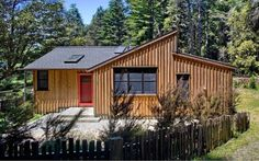 840 sf modern rustic redwoods cottage cabin by cathy schwabe 002 600x375   840 Sq. Ft. Modern and Rustic Small Cabin in the Redwoods