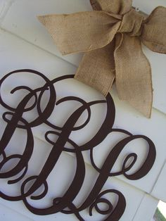 Family or Individual Initial Monogram Door Decor by VintageShore, $45.00