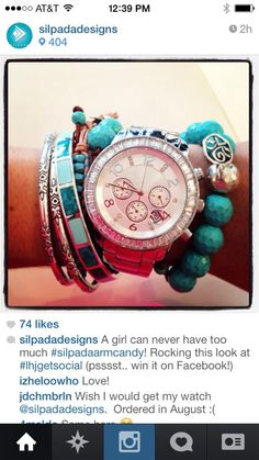 We layer - it's so Silpada-ish!  This watch is the bomb.....