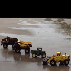 Old toys! Trucks & tractors, back in use for grandkids!