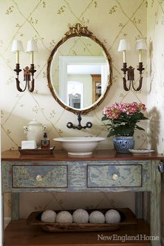 Postcards from the Ridge: Vanity from a table or desk