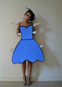 Adorable paper doll costume #goodwill #costume #breakfastclub