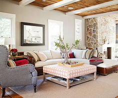 Mix up your patterns and textures! More living room ideas: http://www.bhg.com/rooms/living-room/makeovers/neutral-color/?socsrc=bhgpin072214mixitup&page=13