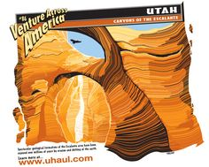 Learn more about the Canyons of the Escalante featured on U-Haul SuperGraphics:    http://www.uhaul.com/SuperGraphics/25/Venture-Across-America-and-Canada-Modern/Utah
