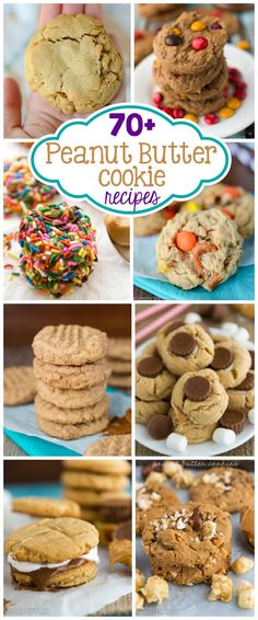 Over 70 Peanut Butter Cookie Recipes | crazyforcrust.com