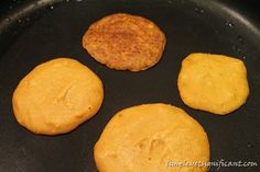 Baby pumpkin pancakes - egg and dairy free