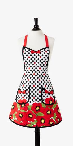 Lady bug Poppy Apron. I could so rock this apron!!