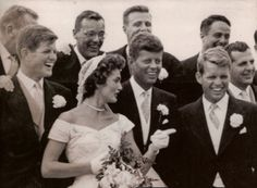 """Sep 12, 1953:  JFK marries Jacqueline Bouvier  More than 750 guests attended the ceremony presided over by Boston Archbishop Richard Cushing and featuring Boston tenor Luigi Vena, who sang """"Ave Maria."""" A crowd of 3,000 onlookers waited outside the church for a glimpse of the newlyweds, who were taken by motorcycle escort to their wedding reception at Hammersmith Farm, an estate overlooking Naragansett Bay. Kennedy was elected the 35th president of the United States seven years later."""